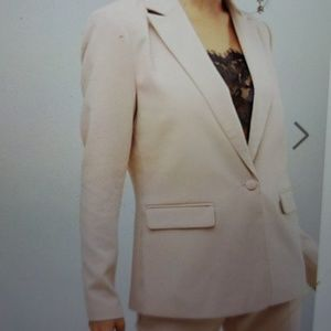 NWT Y.A.S. Tall Tailored Blazer blush pink XL/10